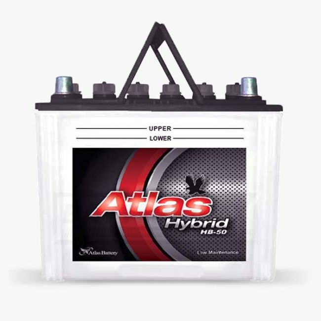 AGS Atlas Hybrid HB-50 Unsealed Lead Acid Battery for Car and UPS