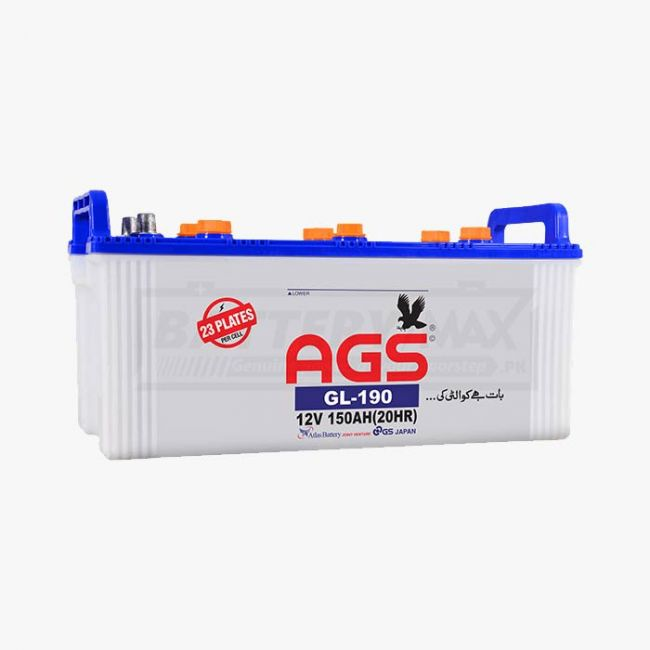 AGS GL-190 Lead Acid Unsealed Car Battery