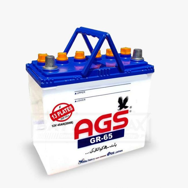 AGS GR65 Unsealed Lead Acid Battery for Car and UPS
