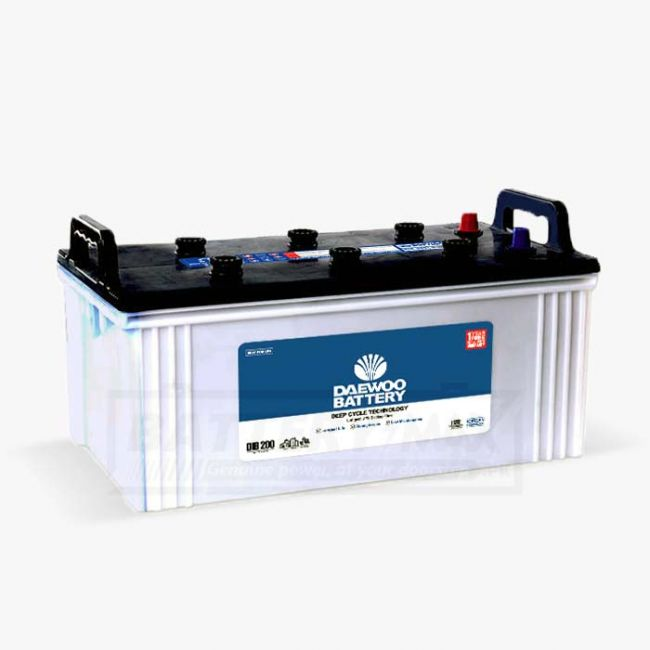 Daewoo DIB-200 Unsealed Lead Acid Battery for Car and UPS