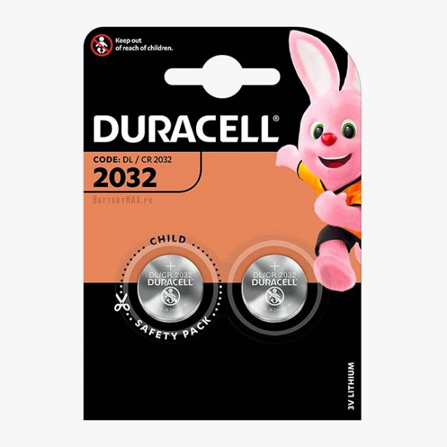 Duracell CR2032 Button Cell Lithium Battery   2 Pack