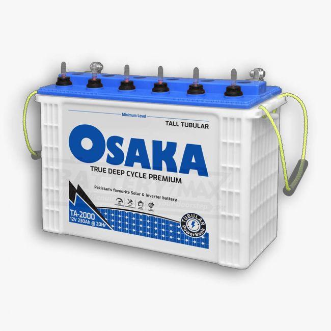 Osaka TA-2000 Supreme Deep Cycle Lead Acid Unsealed Tubular UPS & Solar Battery
