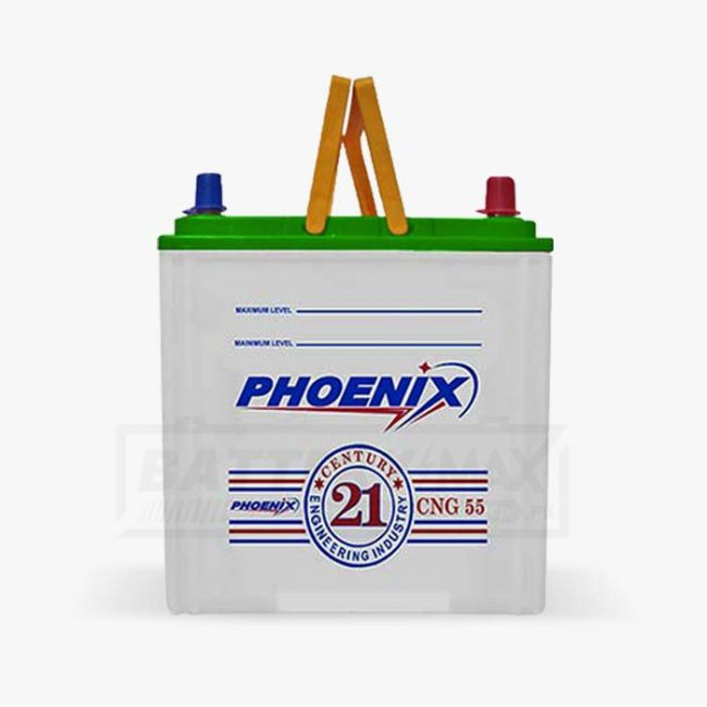 Phoenix CNG55 Unsealed Lead Acid Battery for Car and UPS