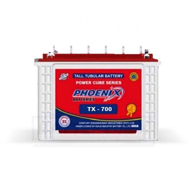 Phoenix TX-700 Tubular Battery Lead Acid Battery for Car and UPS